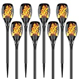 Permande Solar Torch Lights with Flickering Flame, Fire...