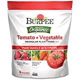 Burpee Organic Tomato and Vegetable Granular Plant Food, 4...