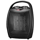andily Compact Portable Ceramic Space Heater with Adjustable...