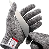 NoCry Cut Resistant Gloves - Ambidextrous, Food Grade, High...
